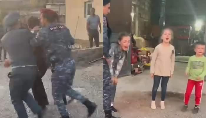 Ինչու էին երեկ ոստիկանները բիրտ ուժ են կիրառել տղամարդու նկատմամբ իր երեխաների աչքի առաջ.տեսանյութ